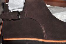 COACH Alston Jodphur Brown Suede Buckle Ankle Boots, Sz: 9D, NIB, MSRP: $395.00