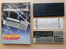 Pocket Personal Computer CASIO FX-850P Scientific Library 116, BASIC PC #652