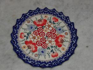 Polish Pottery Trivet! UNIKAT Signature Sweet Harmony Pattern!