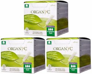 NEW 48-PACK Organyc 100% Organic Cotton Tampons Super Breathable Hypoallergenic