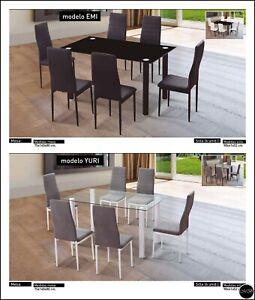 Conjunto Mesa de Comedor/ Salón  y 6 Sillas ref-01