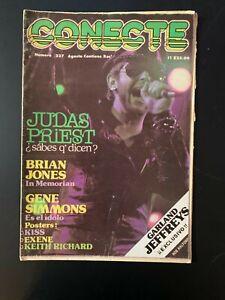 Conecte 227, Mexican Magazine 227 Aug 1981 Inc Judas Priest / James Brown + Post