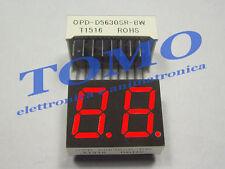 Display 7 Segmenti doppio anodo comune Rosso code OPD-D5630SR-BW