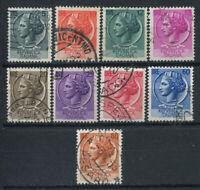 Italien 1953-54 Sass. 710-718 Gestempelt 100% Italien turrita
