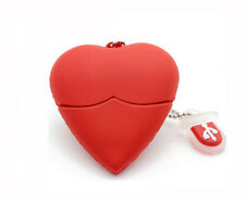 8GB 8G Red Love Heart Style Silicon Rubber USB 3.0 Memory Stick Flash Pen Drive