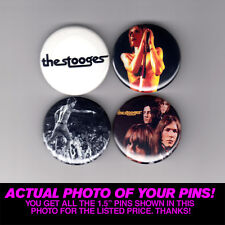 """STOOGES - 1.5"""" PINS / BUTTONS (gig poster badge lp iggy pop raw power funhouse)"""