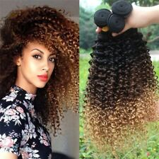 7A Ombre Kinky Curly Weave 1B/4/27 100% Virgin Brazilian Human Hair Extensions