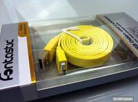 Fontastic Sync Lade Kabel / Cable USB  auf Micro USB, Gelb / Yellow, 1m, NEU