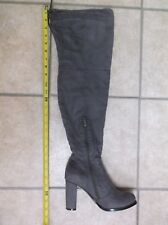 Catherine Malandrino Gray Suede Over Knee Long Tall Boots 6 Worn Once