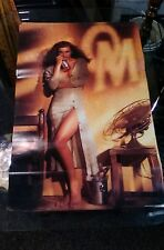 "1991 Stroh's Old Milwaukee Beer Poster PIN UP GIRL NOS Unused 27""x 17"""
