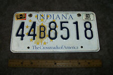 """2003 Indiana """"Crossroads of America"""" License Plate 44B8518 Auto Collectible"""