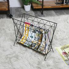 Vintage retro wire metal magazine rack newspaper holder storage living room hall