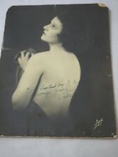 RARE EDITH ROBERTS Autographed Cabinet Card Silent Movie Star 1899-1935
