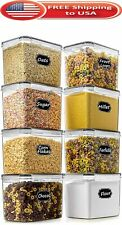 Extra Wide & Deep Food Storage Airtight Pantry Containers Saver 8PCS 3.6l New