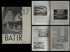 BATIR N°17 1934 CINEMAS, MOUTSCHEN, CINEAC PARIS, BRUXELLES PLAZA, POLAK, SELIS