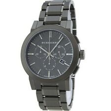 Brand New Burberry Men's BU9354 Large Gray Ion Plated Stainless Steel Watch