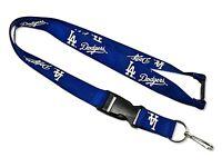 MLB Los Angeles LA Dodgers Lanyard Keychain with Keyring Clip