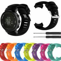 Silikon Ersatz Armband Uhrenarmbander für SUUNTO Core Alu Deep Black Digital Uhr