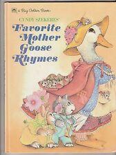 Cyndy Szekeres' Favorite Mother Goose Rhymes A Big Golden Book (en anglais)