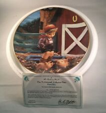 M.I. Hummel Colllectors Plate Farm Boy Gentle Friends Danbury Mint Coa Box