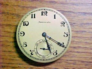 International Watch Co 38.5MM 15J Fancy Dial Open Face Pendantset Nickel Move.