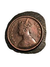 1862 INDIA QUEEN VICTORIA 1/2 PICE COIN. Gothic