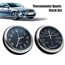 Pair Luminous ABS Car Mechanics Quartz Clock & Thermometer Auto Time Decoration