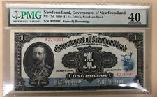 1920 Government of Newfoundland $1 - PMG EF40 - Fresh with Vibrant Colour NF-12d
