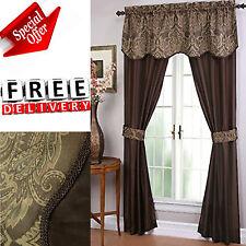 Window Curtain Set 5 Piece Bedroom Luxury 2 Panels Bag Blackout Kitchen Home