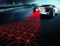 Car Reverse Red LED Laser Fog Light Taillight Lamp Anti Collision Safe Warning