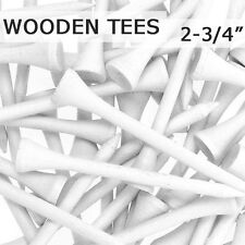 "250 pcs 2 3/4"" 70MM LONG LENGTH WHITE NEW GOLF NATURAL WOOD TEES TEE PGA"