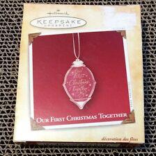 "Hallmark Keepsake ""Our First Christmas Together"" 2004 Acrylic Ornament NIB"