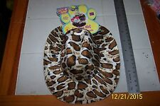 Dog Costume LEOPARD Print Sheriff Western Halloween Puppy Cat Cowboy Hat M/L