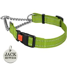 Martingale Dog Collar Personalized Training Choke Collars S M L Lime Green