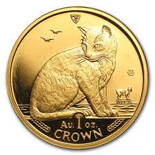 1990 Isle of Man 1 oz Gold New York Alley Cat BU - SKU #85802