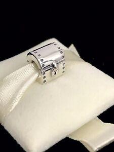 Pandora Silver TREASURE CHEST Charm Trunk Hope Heart Travel 790425 925 ALE + Box