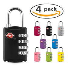 4 X TSA Seguridad 4 Combinación Maleta De Viaje Bolsa De Equipaje Candado Bloqueo de Código Nuevo