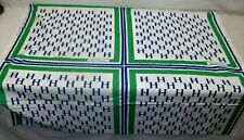 "Original 1968 Hubert Humphrey Campaign Scarf Fabric (42""x 36"") Frankie Welch EXL"