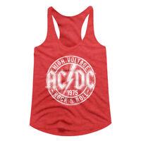 ACDC High Voltage 1975 Album Women's Tank Top Rock Band Concert Tour Racerback