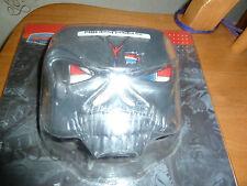 Kuryakyn Cráneo Zombie Cromo Cubierta de luz de la cola se adapta a la mayoría Harley-Davidson