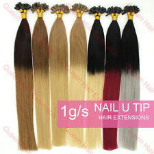 """0.5g/1g/s OMBRE Pre Bonded Keratin Glue U Tip Remy Human Hair Extensions16-22"""""""