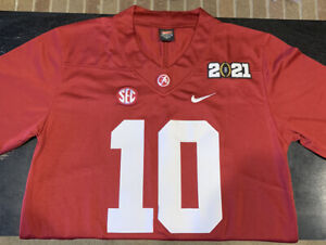 Mac Jones Jersey Alabama Crimson Tide Red 2021 Playoffs M Medium