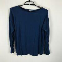 PureJill J. Jill Soft Blouse Size M Blue Long Sleeve Soft Rayon Spandex Top