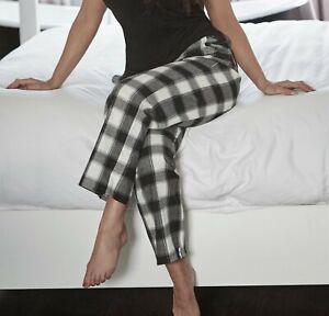 New Women's Ladies Designer Pyjama Bottoms Lounge Pants Trousers Night PJS 8-18
