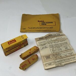 Vintage 1958 kodak verichrome pan film Duo Pak Sealed/ Kodak Lens Cleaning Paper