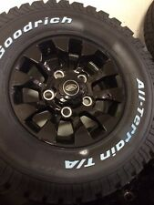 """16""""  Defender 90 Sawtooth style alloy wheels / tyres"""