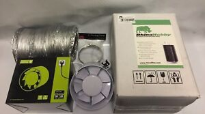 """6"""" INCH FAN & FILTER EXTRACTION KIT RHINO HOBBY CARBON FILTER HYDROPONICS"""