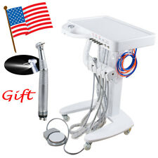 Portable Dental Delivery Unit Mobile Cart no Compressor Equipment +LED Handpiece