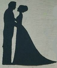 8 x Handmade Bride and Groom (2) Silhouettes for Crafts Valentines Day Card
