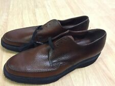 Vintage New 1960's Nunn Bush Pebble Grain Leather Oxford Dress Shoes Men's 9 B